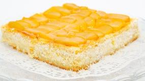 ροδάκινο τυριών κέικ Στοκ φωτογραφία με δικαίωμα ελεύθερης χρήσης