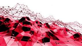 Ροδοειδής ή ρόδινη χαμηλή πολυ ταλαντεμένος επιφάνεια ως ζωηρό περιβάλλον Κόκκινο polygonal γεωμετρικό δομένος περιβάλλον ή απεικόνιση αποθεμάτων