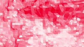 Ροδοειδής ή ρόδινη χαμηλή πολυ ταλαντεμένος επιφάνεια ως κομψό περιβάλλον Κόκκινο polygonal γεωμετρικό δομένος περιβάλλον ή απεικόνιση αποθεμάτων