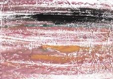 Ροδοειδής καφετιά αφηρημένη απεικόνιση watercolor Στοκ Φωτογραφία