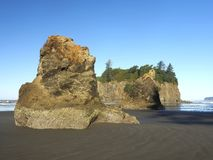 Ροδοκόκκινη ακτή πολιτεία της Washington παραλιών σωρών θάλασσας Στοκ εικόνα με δικαίωμα ελεύθερης χρήσης
