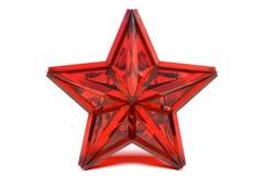 ροδοκόκκινο αστέρι Στοκ Εικόνα