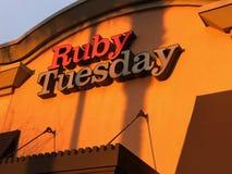 Ροδοκόκκινο εστιατόριο Τρίτης στοκ φωτογραφίες με δικαίωμα ελεύθερης χρήσης