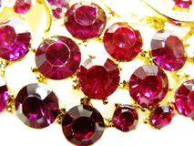 Ροδοκόκκινο κόσμημα διαμαντιών σαπφείρου κρυστάλλων πολύτιμων λίθων Στοκ φωτογραφία με δικαίωμα ελεύθερης χρήσης