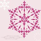 ροδοκόκκινο snowflake Στοκ Φωτογραφία