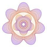 Ροζέτα αστεριών Guilloché Στοκ φωτογραφία με δικαίωμα ελεύθερης χρήσης