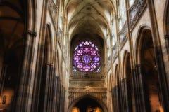 Ροζέτα decal του καθεδρικού ναού του ST Vitus στην Πράγα Στοκ Φωτογραφία