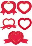 ροζέτες καρδιών Στοκ εικόνα με δικαίωμα ελεύθερης χρήσης