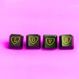ροζ αγάπης ανασκόπησης Στοκ Φωτογραφία