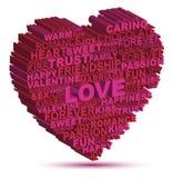Ροζ αγάπης Στοκ φωτογραφία με δικαίωμα ελεύθερης χρήσης