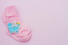 ροζ ανασκόπησης μωρών Στοκ Εικόνες