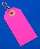 ροζ αποσκευών ετικετών Στοκ εικόνα με δικαίωμα ελεύθερης χρήσης