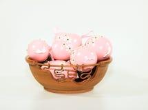 ροζ αυγών Πάσχας διακοσμήσεων Στοκ φωτογραφία με δικαίωμα ελεύθερης χρήσης