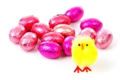 ροζ αυγών Πάσχας κοτόπου&la Στοκ Εικόνα