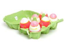 ροζ αυγών Πάσχας χαρτοκι&be Στοκ Εικόνες
