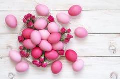 ροζ αυγών Πάσχας Στοκ Εικόνες