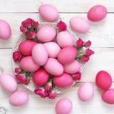 ροζ αυγών Πάσχας Στοκ Φωτογραφίες