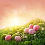 ροζ αυγών Πάσχας Στοκ φωτογραφίες με δικαίωμα ελεύθερης χρήσης