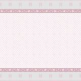 ροζ δαντελλών πλαισίων α&nu Στοκ εικόνες με δικαίωμα ελεύθερης χρήσης