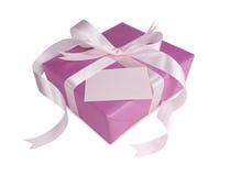 ροζ δώρων κιβωτίων τόξων Στοκ Φωτογραφίες