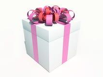 ροζ δώρων κιβωτίων τόξων Στοκ Φωτογραφία