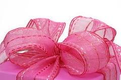 ροζ δώρων κιβωτίων στοκ εικόνα