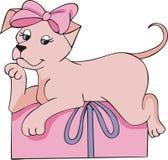 ροζ δώρων σκυλακιών απεικόνιση αποθεμάτων