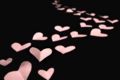 ροζ εγγράφου καρδιών Στοκ φωτογραφία με δικαίωμα ελεύθερης χρήσης