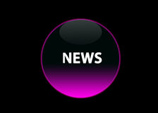 ροζ ειδήσεων νέου κουμπιών Στοκ φωτογραφία με δικαίωμα ελεύθερης χρήσης