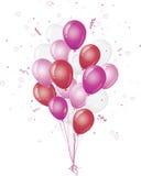 ροζ εορτασμού μπαλονιών Στοκ εικόνα με δικαίωμα ελεύθερης χρήσης