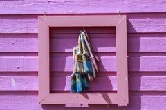 Ροζ διακόσμηση τοίχων Στοκ Φωτογραφίες