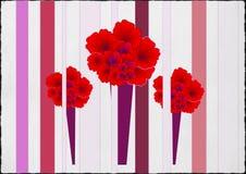 Ροζ κάρτα γενεθλίων Karnation Στοκ φωτογραφία με δικαίωμα ελεύθερης χρήσης