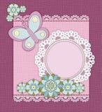 Ροζ κάρτα Στοκ φωτογραφία με δικαίωμα ελεύθερης χρήσης