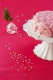 ροζ κέικ ανασκόπησης Στοκ Φωτογραφία