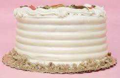 ροζ κέικ γενεθλίων ανασκόπησης Στοκ Εικόνες