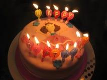 ροζ κέικ γενεθλίων Στοκ Φωτογραφίες