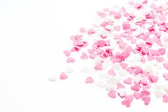 Ροζ και λευκό μορφής καρδιών Στοκ εικόνα με δικαίωμα ελεύθερης χρήσης
