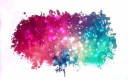 Ροζ και μπλε με το υπόβαθρο κτυπημάτων βουρτσών αισθήσεων μαγείας Αμερικανός διακοσμεί διανυσματική έκδοση συμβόλων σχεδίου την π Στοκ Εικόνες