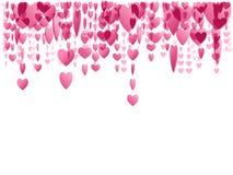 ροζ καρδιών ένωσης Στοκ Εικόνες