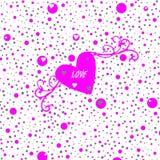 ροζ καρδιών ανασκόπησης Στοκ Φωτογραφίες