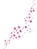ροζ καρδιών γυαλιού Στοκ Φωτογραφίες