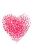 ροζ καρδιών διαμαντιών κρυστάλλου Στοκ Εικόνες