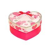 ροζ καρδιών κιβωτίων Στοκ εικόνα με δικαίωμα ελεύθερης χρήσης