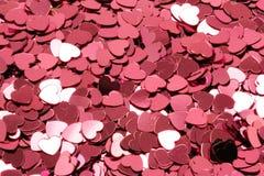 ροζ καρδιών κομφετί Στοκ φωτογραφίες με δικαίωμα ελεύθερης χρήσης