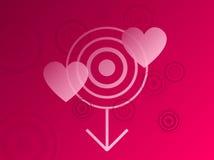 ροζ καρδιών λεπτομέρεια&sig Ελεύθερη απεικόνιση δικαιώματος