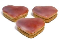 ροζ καρδιών μπισκότων Χρισ&t Στοκ εικόνες με δικαίωμα ελεύθερης χρήσης