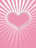 ροζ καρδιών πυράκτωσης Στοκ φωτογραφία με δικαίωμα ελεύθερης χρήσης