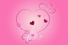 ροζ καρδιών Στοκ Εικόνα