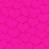 ροζ καρδιών διανυσματική απεικόνιση