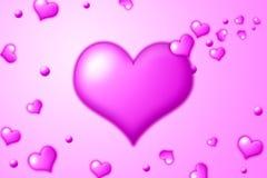 ροζ καρδιών Στοκ Φωτογραφίες